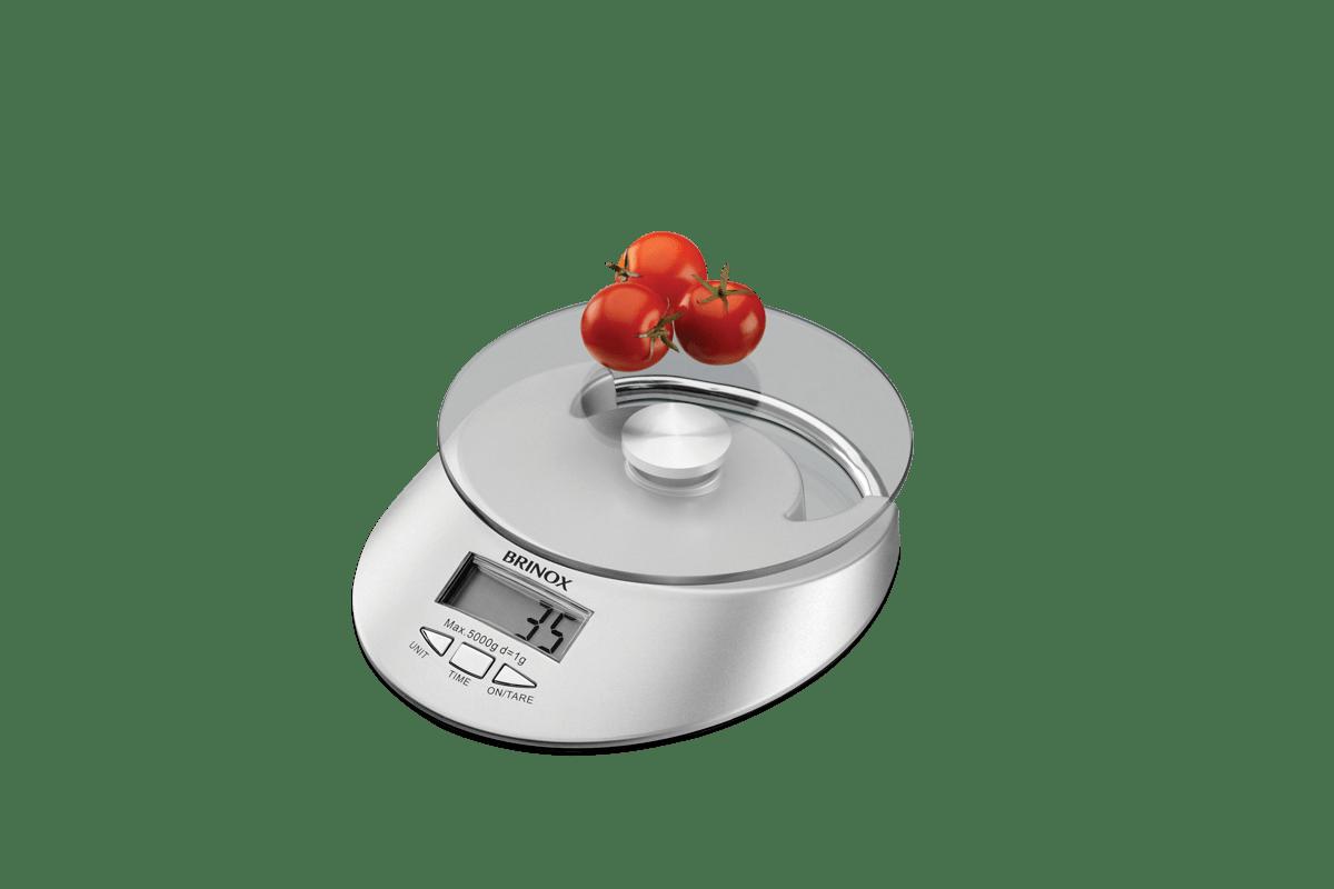 Loja Brinox Balança Digital com Relógio para Cozinha 5 kg brinox #A23B29 1200x800 Balança Digital De Banheiro Mondial