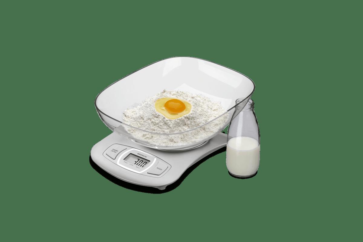 Balanca Digital com Recipiente para Cozinha 5 kg Balancas 27 x 23 x  #BB7E10 1200x800 Balança Digital De Banheiro Mondial