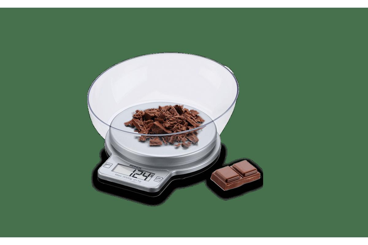 Balanca Digital com Recipiente para Cozinha 3 kg Balancas 20 x 18 x  #6E4135 1200x800 Balança Digital Banheiro Lojas Americanas