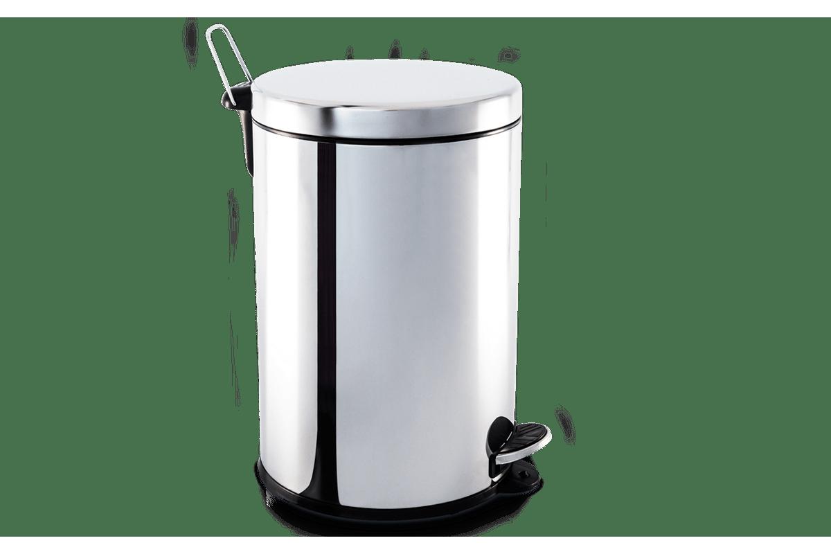 Lixeira Inox com Pedal e Balde 20 Litros Decorline Lixeiras Ø 30 x  #645851 1200x800 Acessorios Para Banheiro Inox