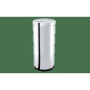 Lixeira-Inox-com-Tampa-Basculante-405-Litros---Decorline-Lixeiras-Ø-30-x-60-cm