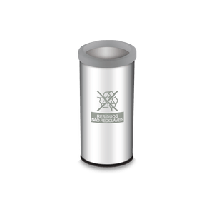 Lixeira-Seletiva-com-Aro-e-Adesivo-Cinza-405-Litros---Decorline-Lixeiras-Ø-30-x-60-cm