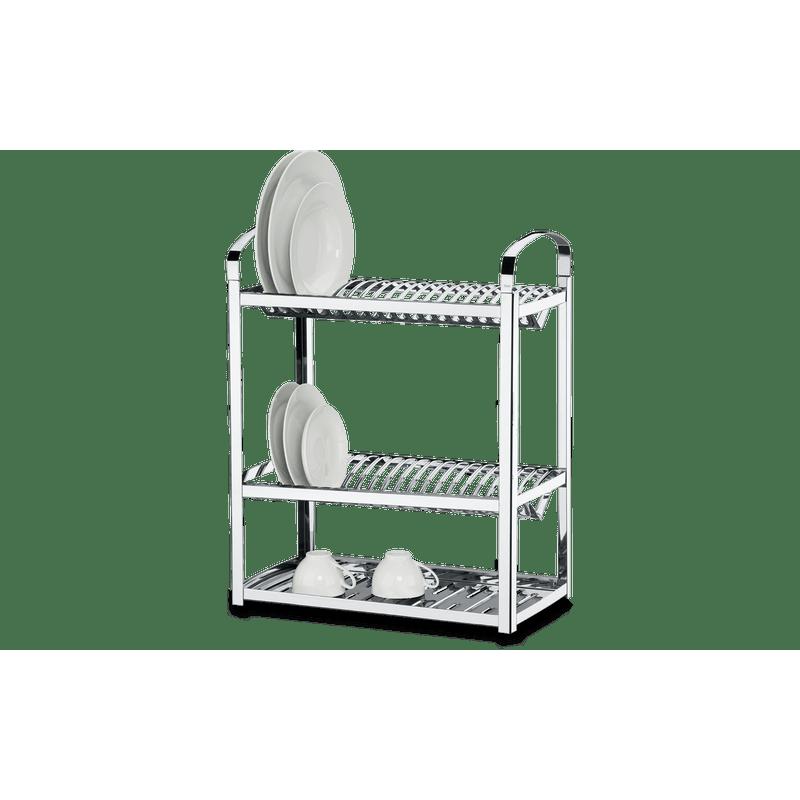 Escorredor-Aco-Inox-Profissional-para-40-pratos---Suprema-49-x-27-x-62-cm