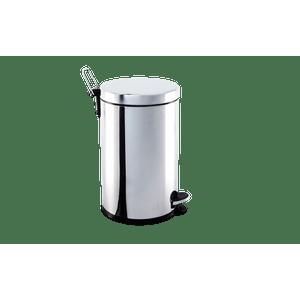 Lixeira-Inox-com-Pedal-e-balde-12-litros--Ø-25-x-41-cm
