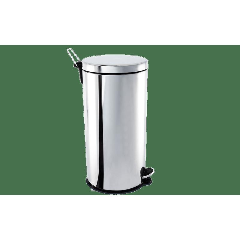 Lixeira-Inox-com-Pedal-e-Balde-30-Litros---Decorline-Lixeiras-Ø-30-x-64-cm