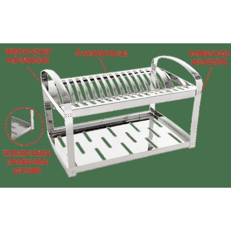 Escorredor-Aco-Inox-20-Pratos-com-Escorredor-de-Talheres-Plastico---Suprema-52-x-27-x-285-cm