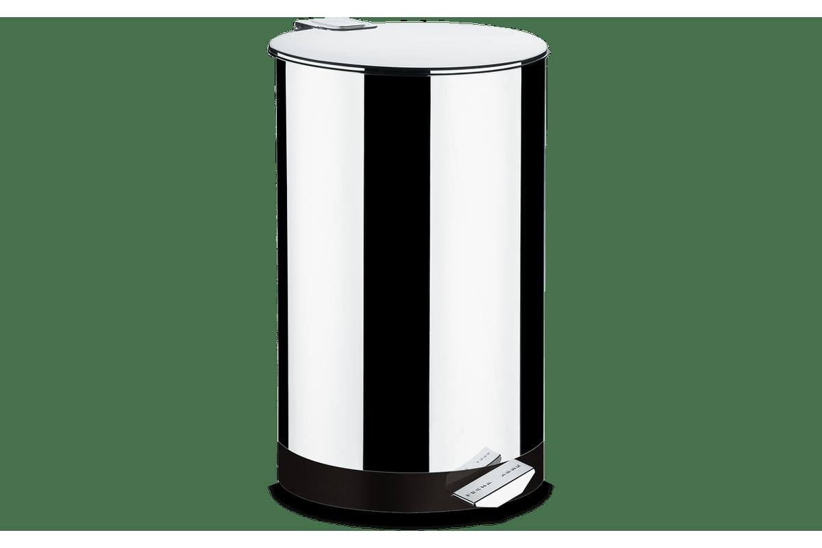 Loja Brinox Lixeira Inox Pedal 50 Litros Decorline Lixeiras Brinox