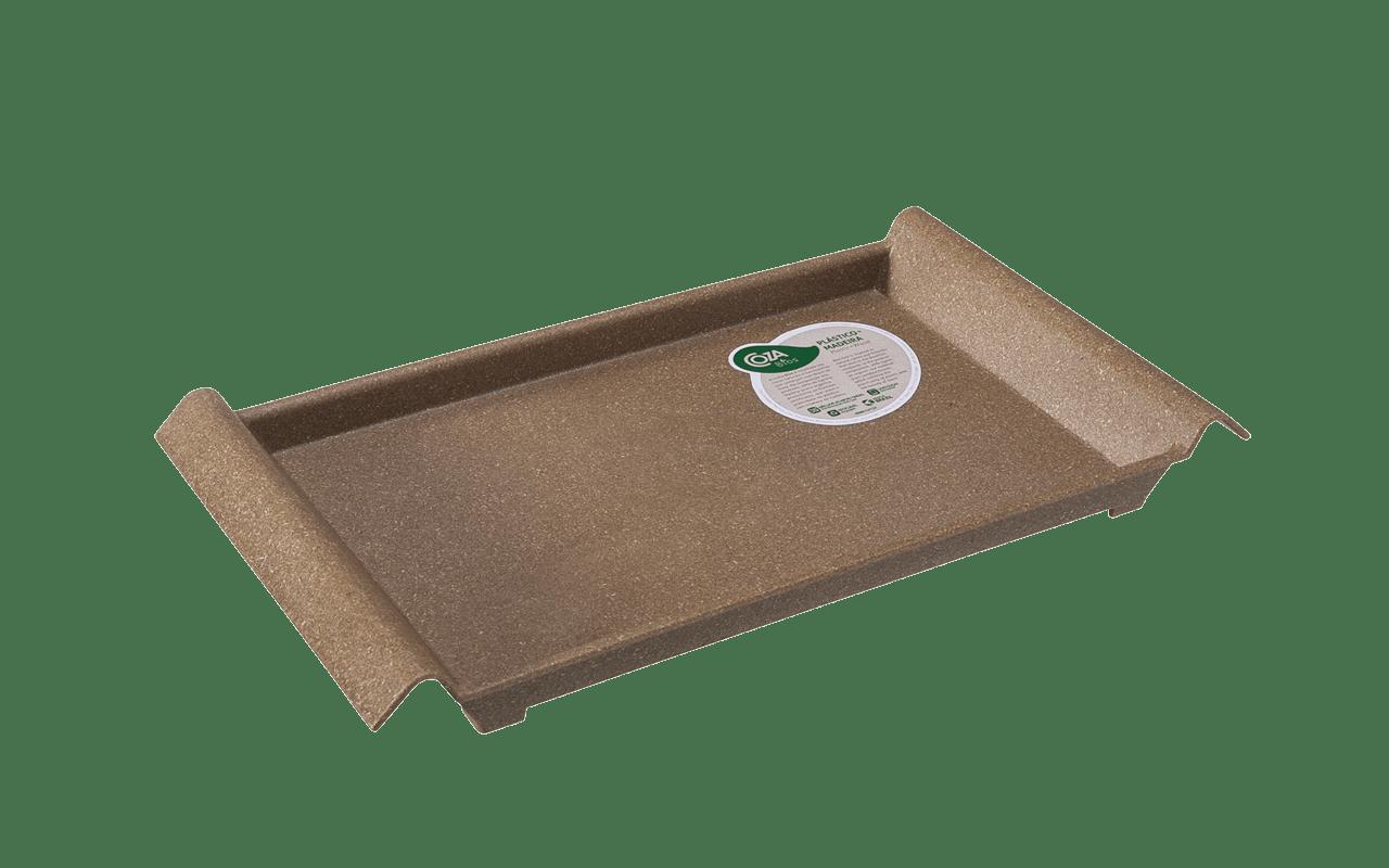 Design para servir tudo com muito estilo. A textura de madeira é agradável ao tato e leva mais originalidade à mesa.