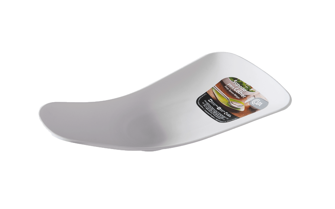 Não suje sua cozinha ou sua toalha, o suporte para colher tem design clean para ajudar tanto na hora de prepara quanto de servir refeições. Ideal para não errar o talher e misturar sabores. Disponível em três cores, combina com sua cozinha ou mesa.