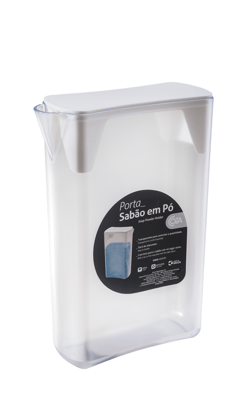 Hora de lavar a roupa suja. O Porta Sabão em Pó deixa a sua lavanderia mais organizada e estilosa, além de facilitar o dia-a-dia. Além de super prático, é um recipiente inovador para essa função.