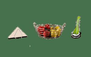 Kit-Porta-Guardanapos---Fruteira---Apoio-para-Utensilios-