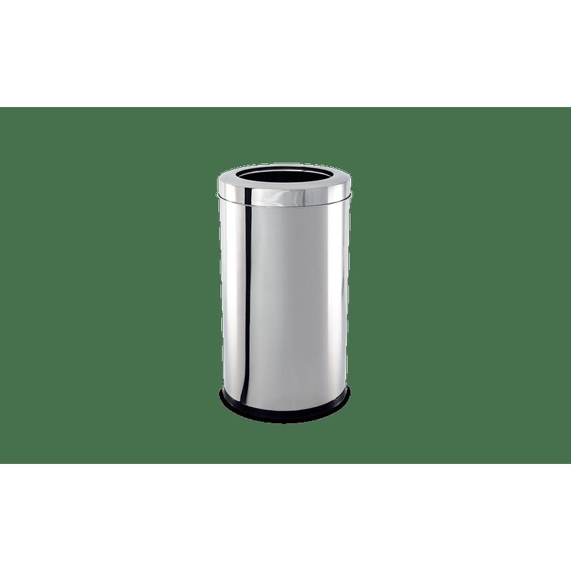 Lixeira-Inox-com-Aro-212-Litros---Decorline-Lixeiras-Ø-25-x-46-cm