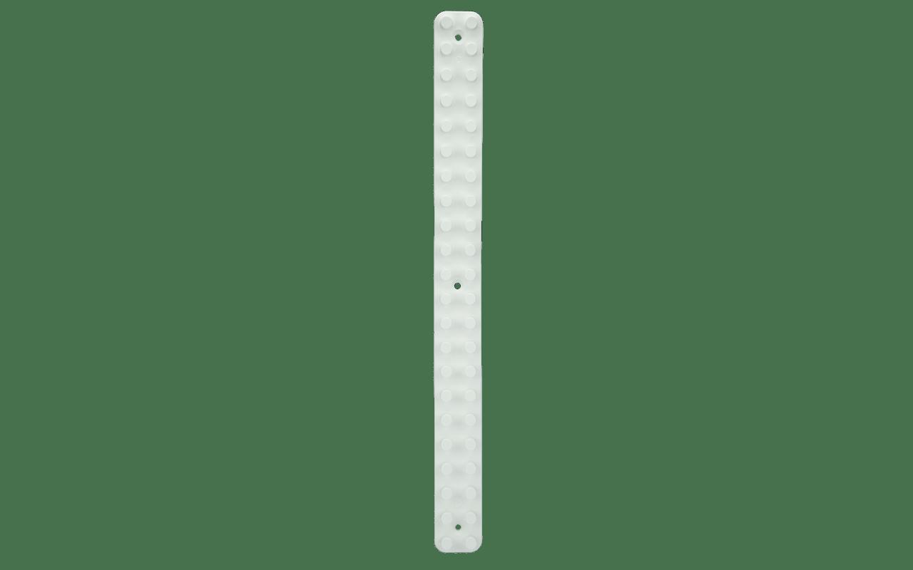 Com 44 x 4 x 2,5 cm, a Barra Grande da linha Loft Up pode ser encontrada individualmente. Com isso, convidamos você a montar seu painel de decoração com os demais produtos da linha. A peça traz duas buchas e dois parafusos para fixação. Agora não faltarão motivos para você inovar na hora de organizar seus itens favoritos.