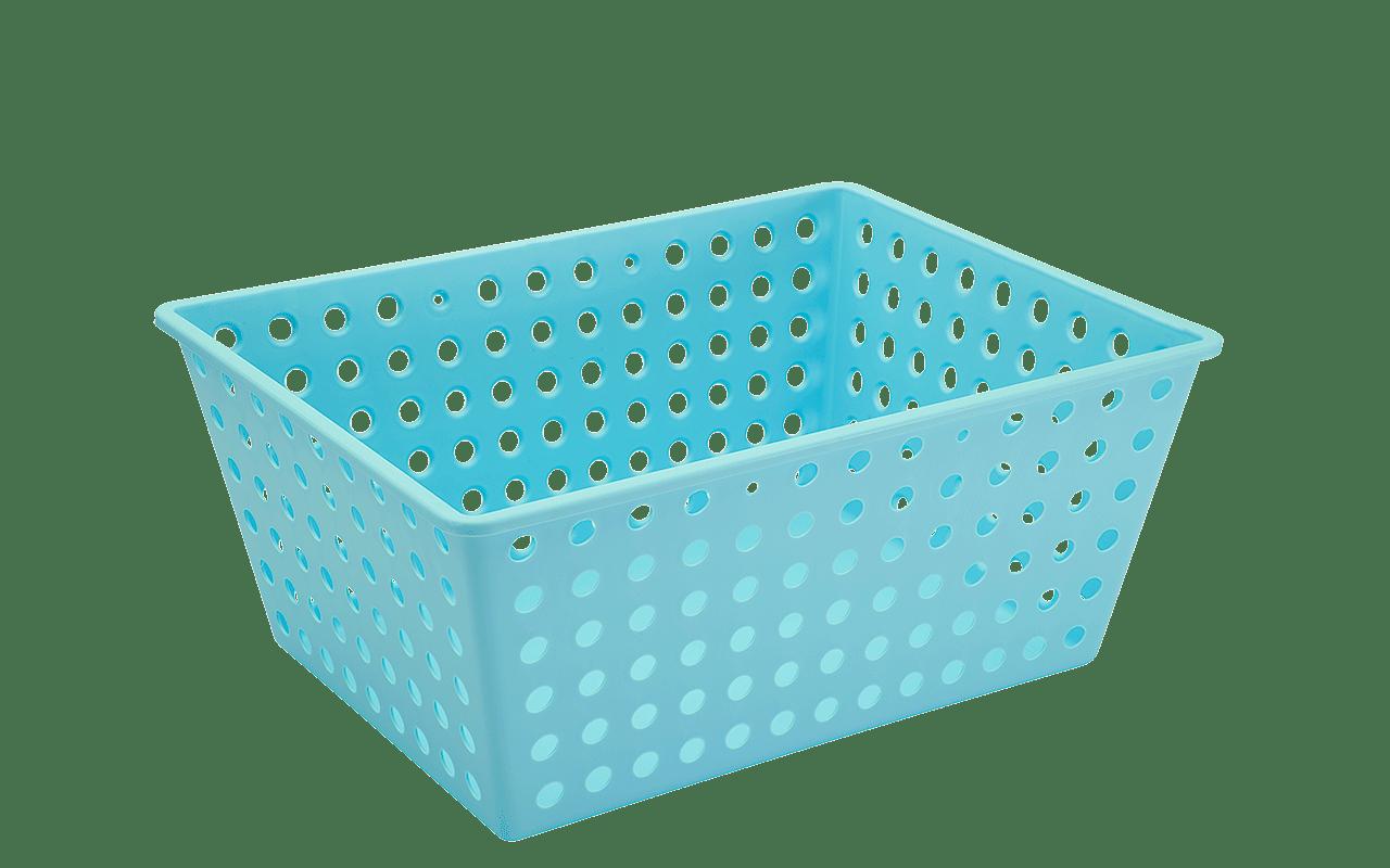 Práticas e versáteis, as cestas organizadoras podem ser usadas em qualquer parte da casa, especialmente para guardar objetos no banheiro ou brinquedos nos quartos das crianças. Práticas para armazenar e organizar os mais diferentes objetos em qualquer ambiente, as cestas tem um design que mostra tudo o que está dentro dela, facilitando na hora de procurar o que está guardado.