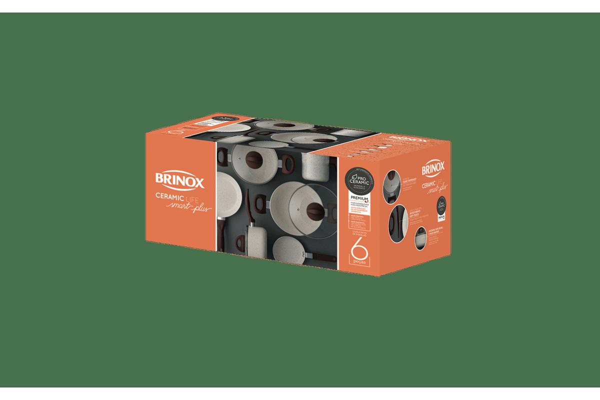 a1a635df5 Loja Brinox - Jogo de Panelas 6 Peças - Ceramic Life Smart Plus ...