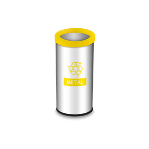 Lixeira-Seletiva-com-Aro-e-Adesivo-Amarelo-405-Litros---Decorline-Lixeiras-Ø-30-x-60-cm---Brinox