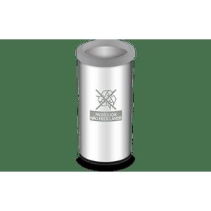 Lixeira-Seletiva-com-Aro-e-Adesivo-Cinza-405-Litros---Decorline-Lixeiras-Ø-30-x-60-cm---Brinox