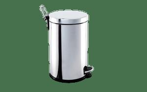 Lixeira-Inox-com-Pedal-e-balde-12-litros-Ø-25-x-41-cm---Brinox