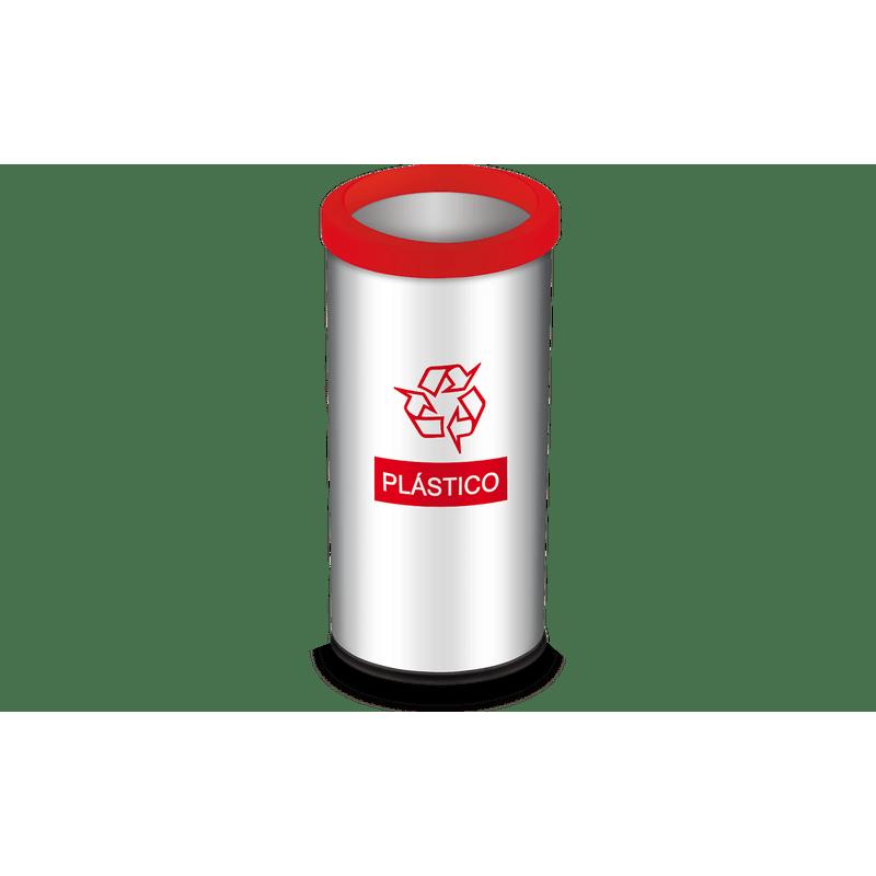 Lixeira-Seletiva-com-Aro-e-Adesivo-Vermelho-405-Litros---Decorline-Lixeiras-Ø-30-x-60-cm---Brinox