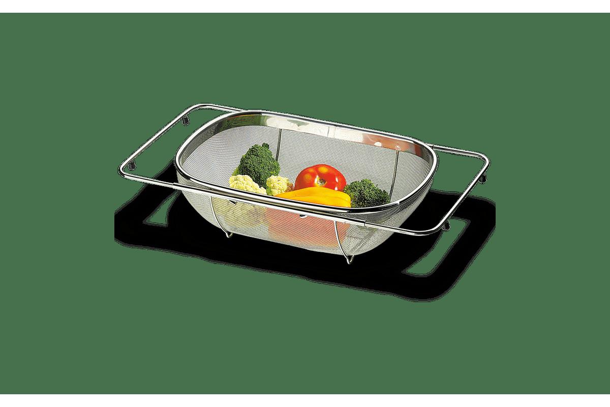 Cesto-para-Lavar-Frutas-e-Verduras-Aco-Inox---Verona-Aberto-56-x-245-x-11-cm---Fechado-36-x-245-x-11-cm---Brinox