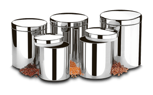 Conjunto-de-Potes-para-Mantimentos-com-Tampa-5-Pecas---Suprema---Brinox