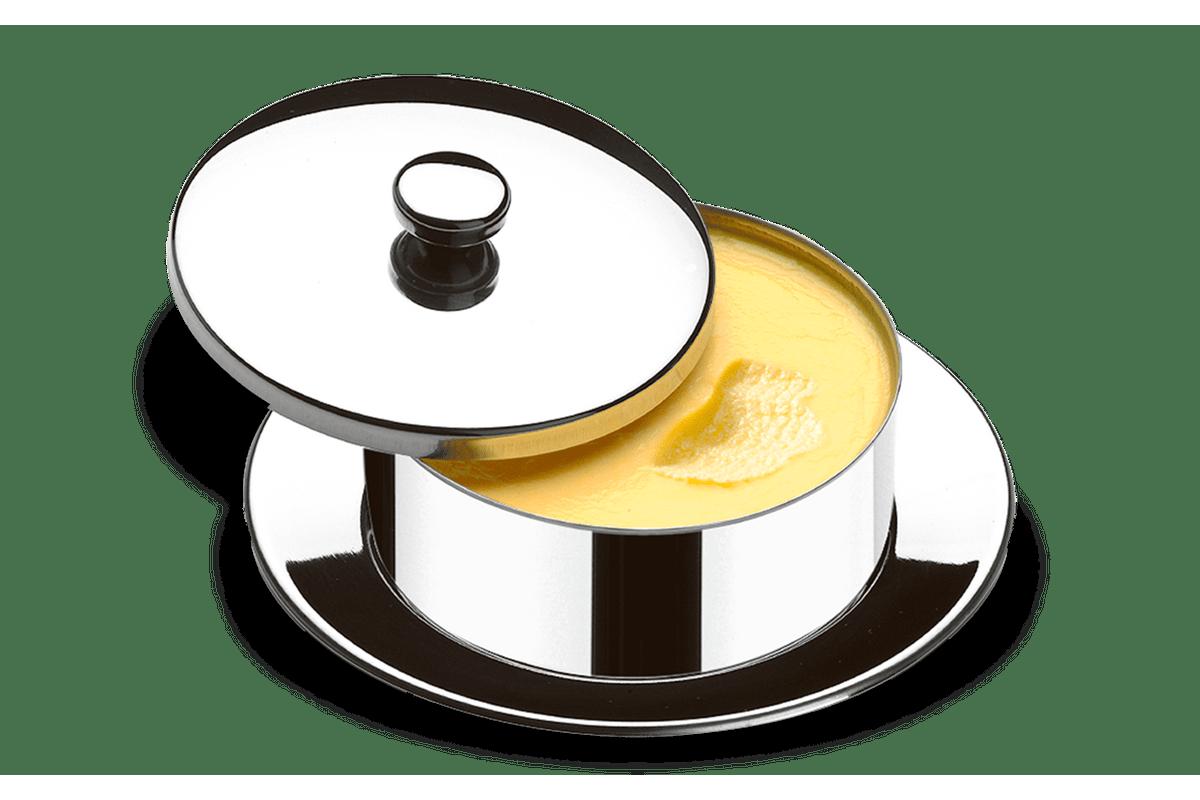 Manteigueira-Redonda-com-Pires---Atina-130-g---Brinox