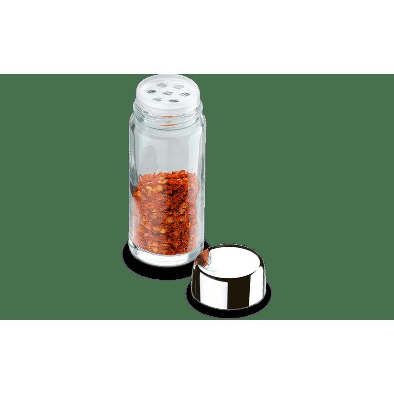 Porta-Condimentos-com-Tampa-Plastica-com-Furos-e-Sobretampa-de-Aco-Inox---Parma-90-ml---Brinox
