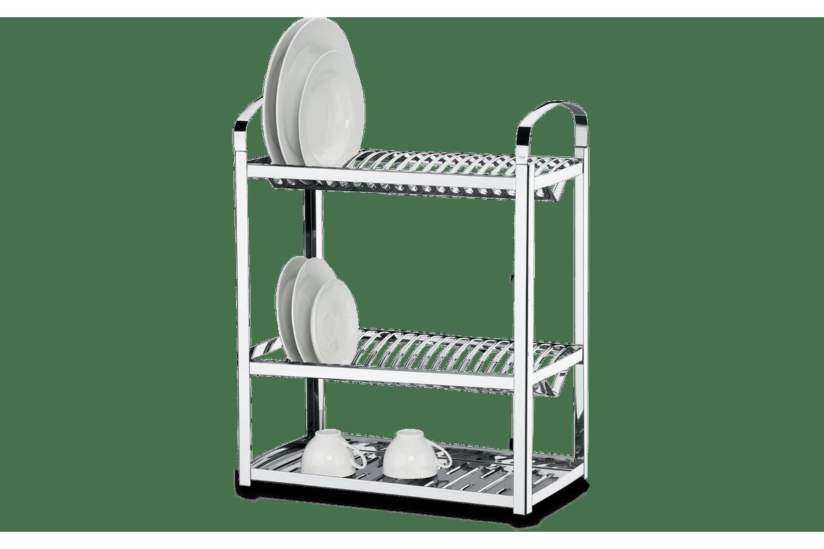Escorredor-Aco-Inox-Profissional-para-40-pratos---Suprema-49-x-27-x-62-cm---Brinox