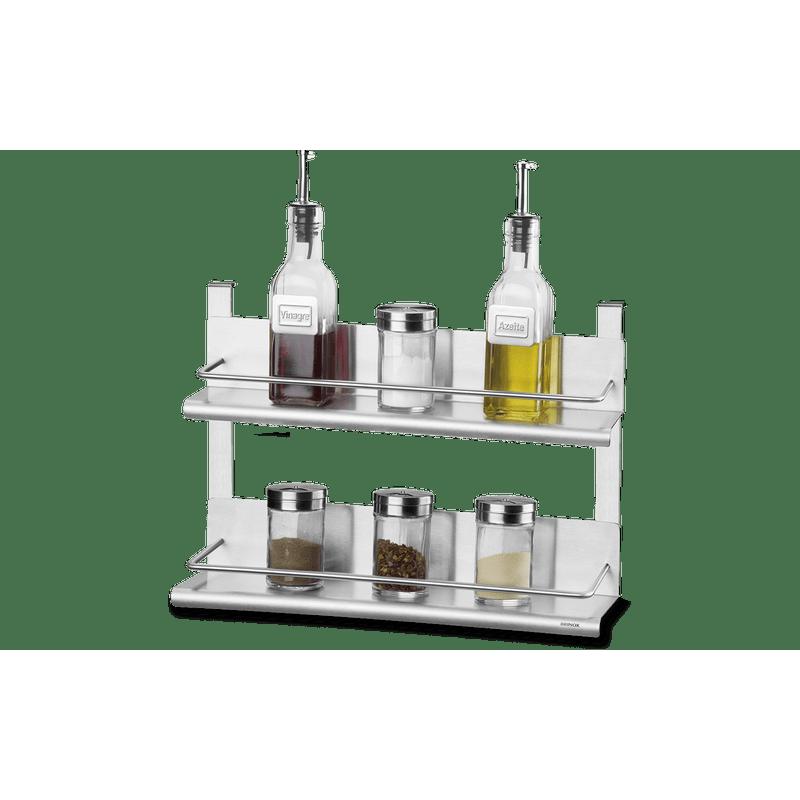 Suporte-Duplo-para-Condimentos---Spazio-35-x-10-x-25-cm---Brinox