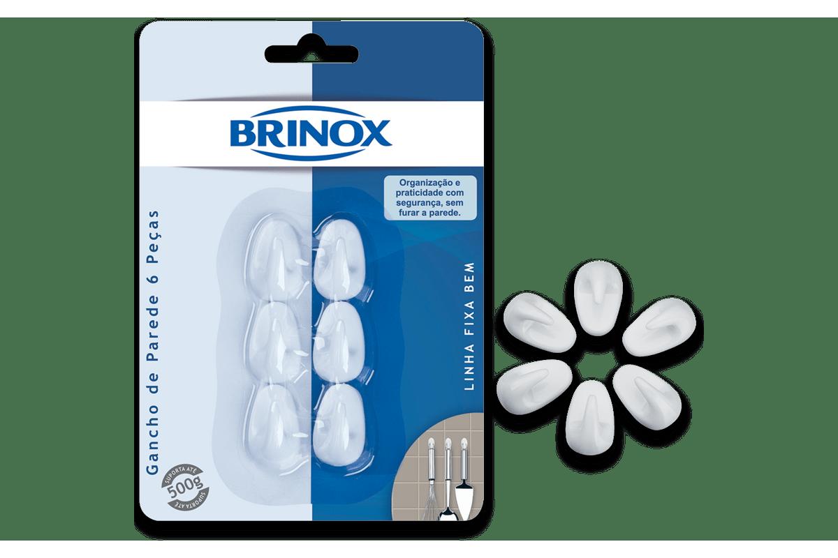 Gancho-Mini-de-Parede-6-Pecas---Fixa-Bem---Brinox