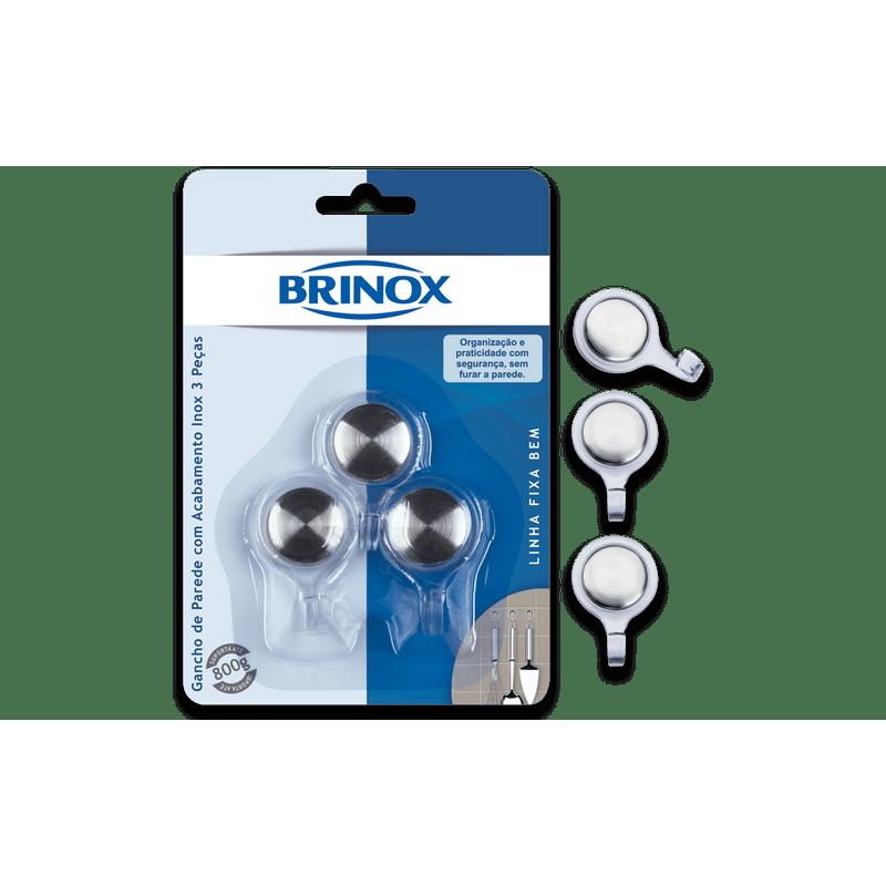 Gancho-Pequeno-de-Parede-com-Acabamento-Inox-3-pecas---Fixa-Bem---Brinox