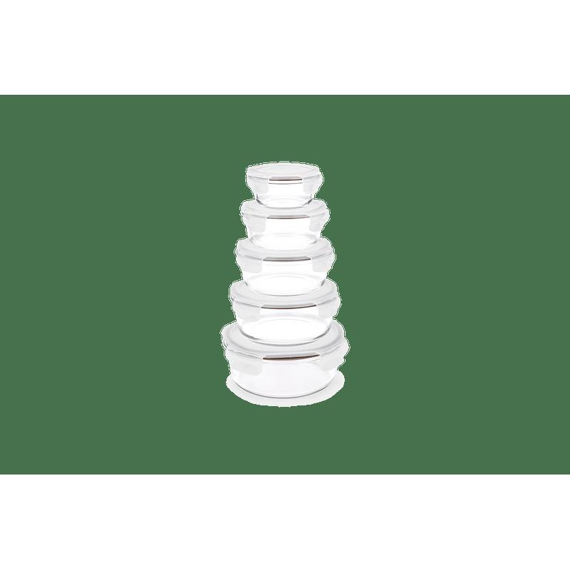 Pote-Redondo-Hermetico-Lock-Stock-400-Ml-Brinox-Ø137x137x63-cm---Brinox