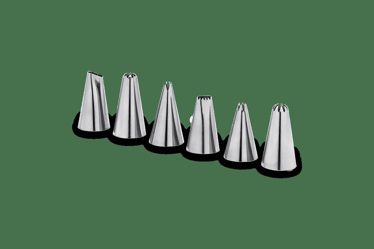 Conjunto-6-Pecas---Bico-Para-Confeitar-Glace-32cm--Brinox---Brinox