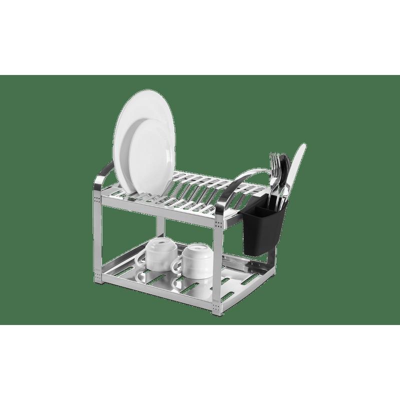 Escorredor-Aco-Inox-12-Pratos-com-Escorredor-de-Talheres-Plastico---Suprema-30x29x355-cm---Brinox