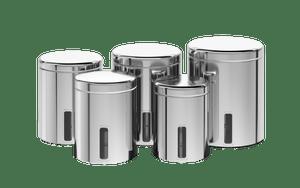 Conjunto-de-Potes-para-mantimentos-com-tampa-e-visor---Brinox---Brinox